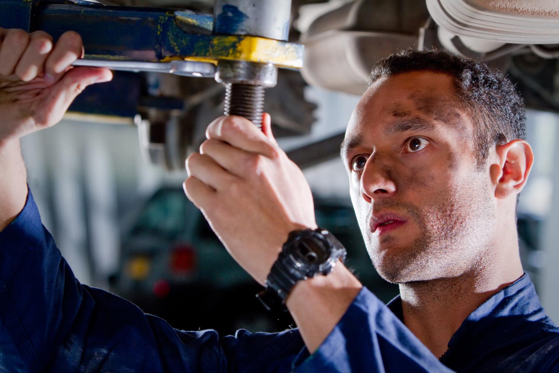 Mechanic in a garage